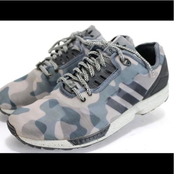 3c8f014c0dcb4 adidas Shoes | Zx Flux Torsion Blue Camo Sneaker | Poshmark